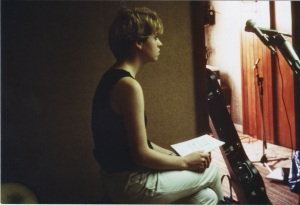Sarah at the demo recording 1982