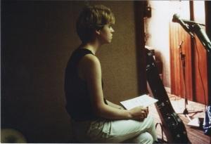 Sarah at the demo recording 1982